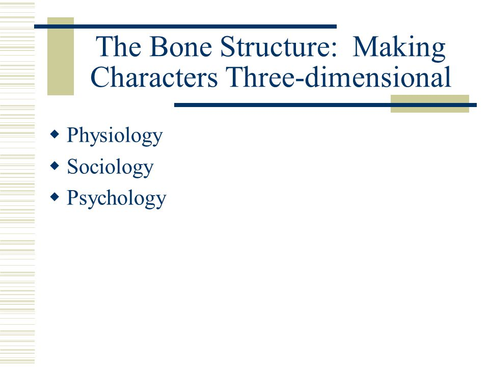 The Bone Structure: Making Characters Three-dimensional