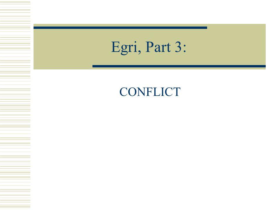 Egri, Part 3: CONFLICT