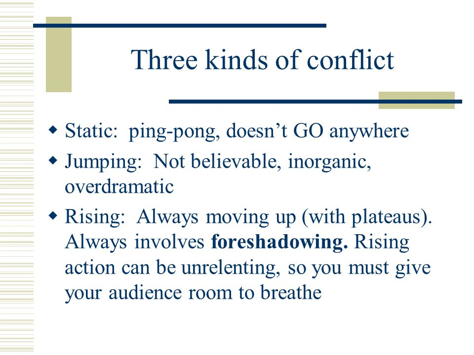 Three kinds of conflict