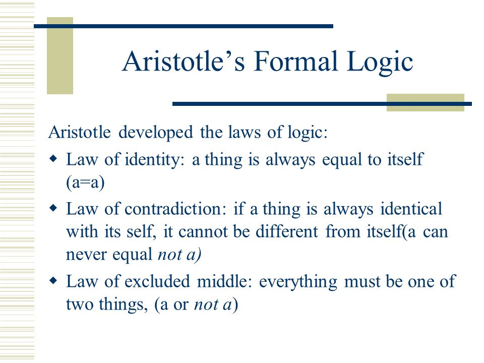 Aristotle's Formal Logic