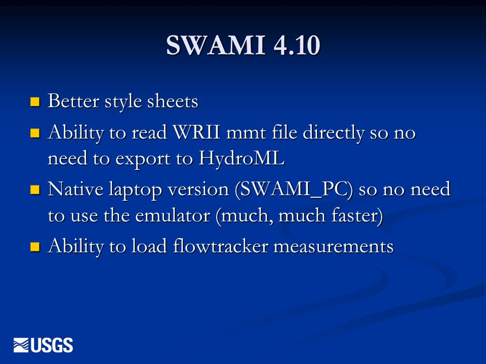 SWAMI 4.10 Better style sheets