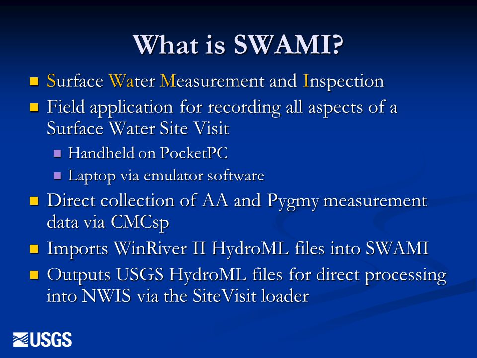 What is SWAMI Surface Water Measurement and Inspection