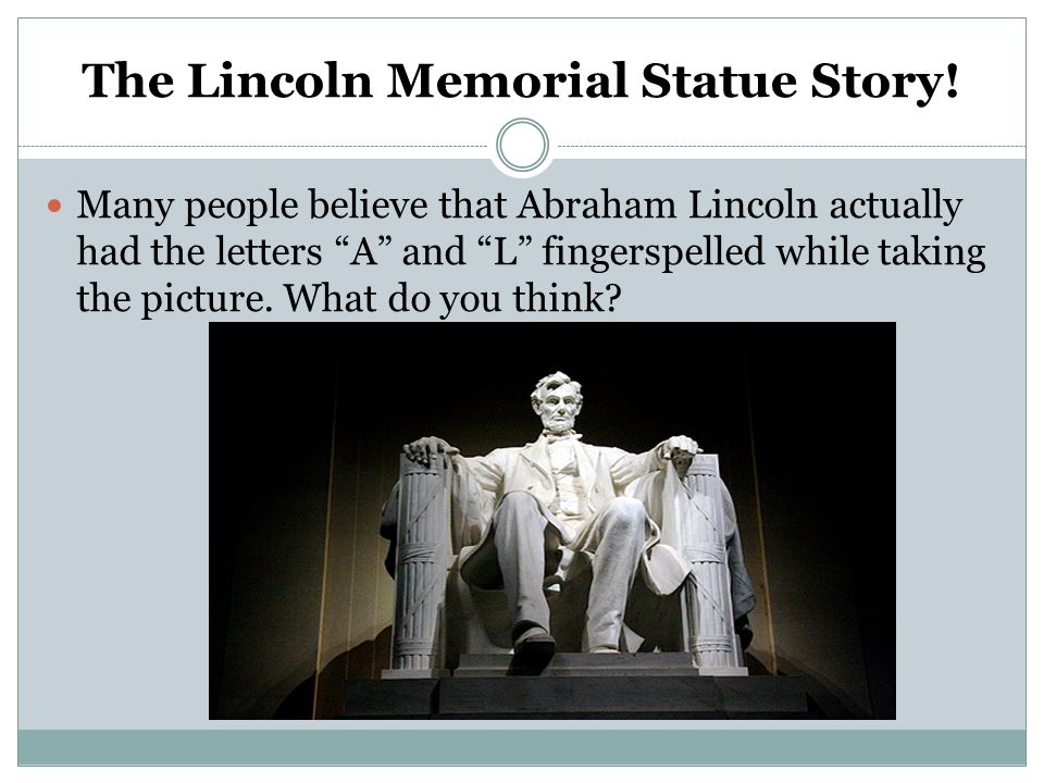 The Lincoln Memorial Statue Story!