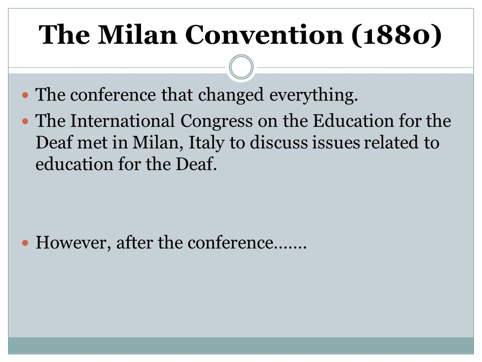 The Milan Convention (1880)