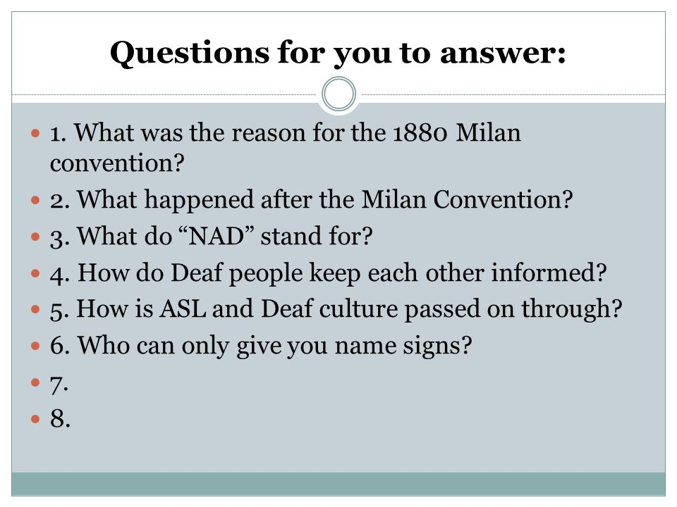 unit three deaf community ppt  20 questions