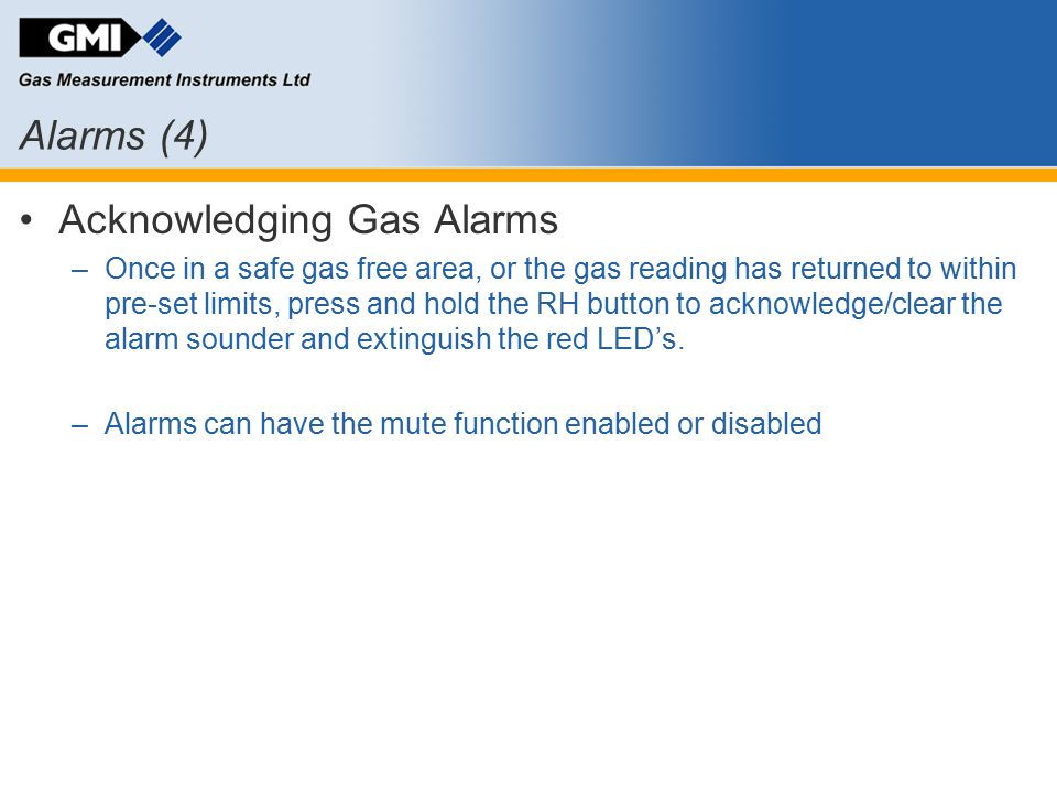 Acknowledging Gas Alarms
