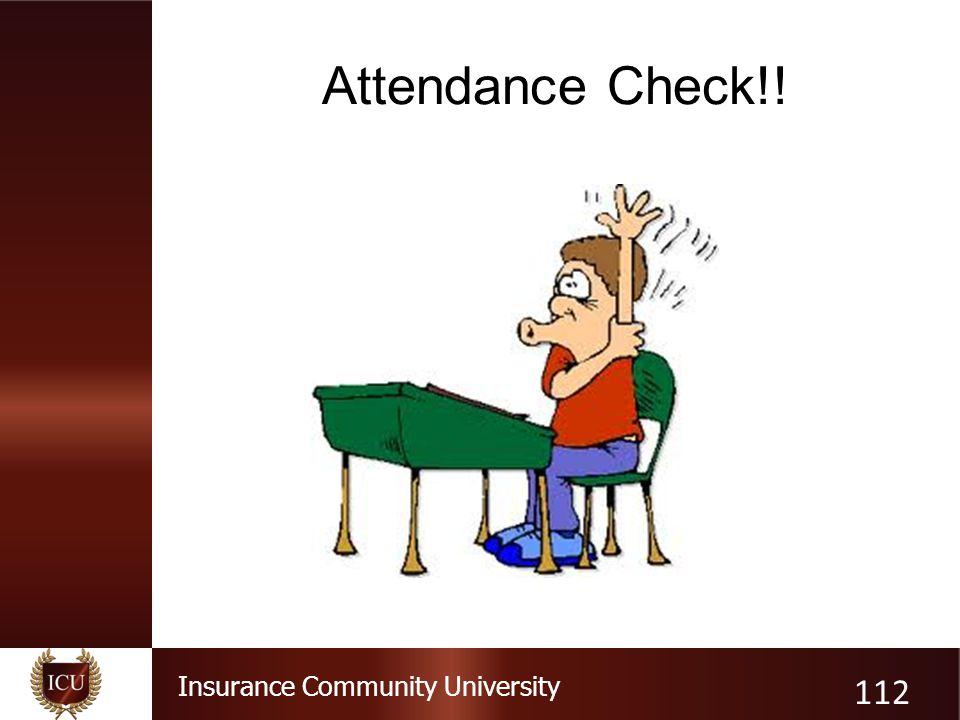 Attendance Check!!