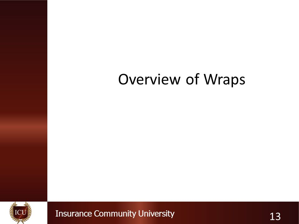 Overview of Wraps