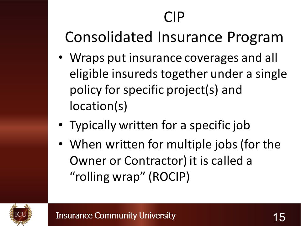CIP Consolidated Insurance Program