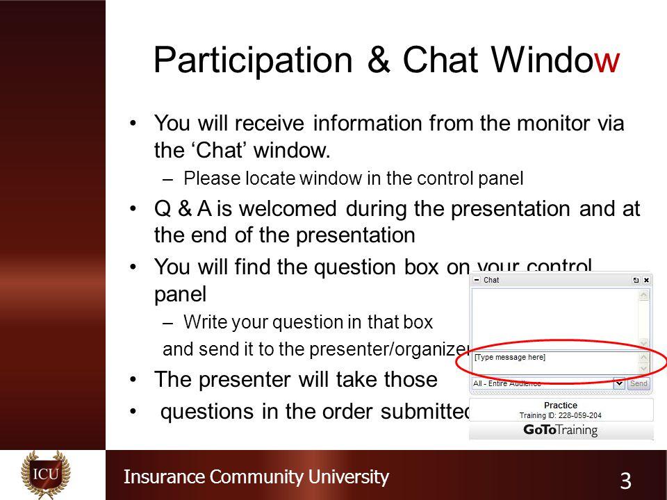 Participation & Chat Window