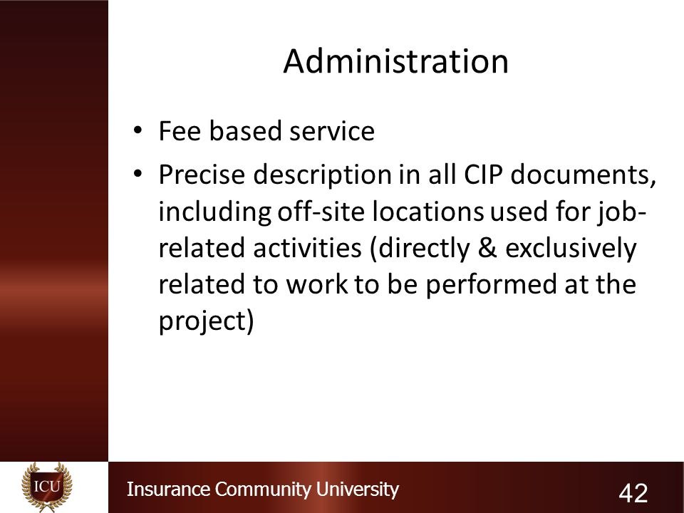 Administration Fee based service
