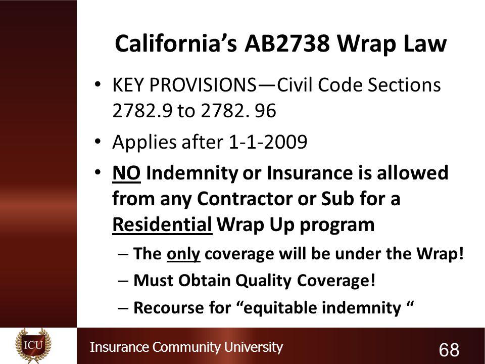 California's AB2738 Wrap Law