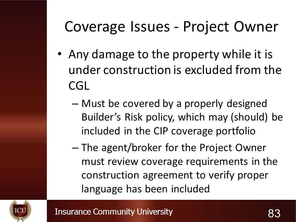 Coverage Issues - Project Owner