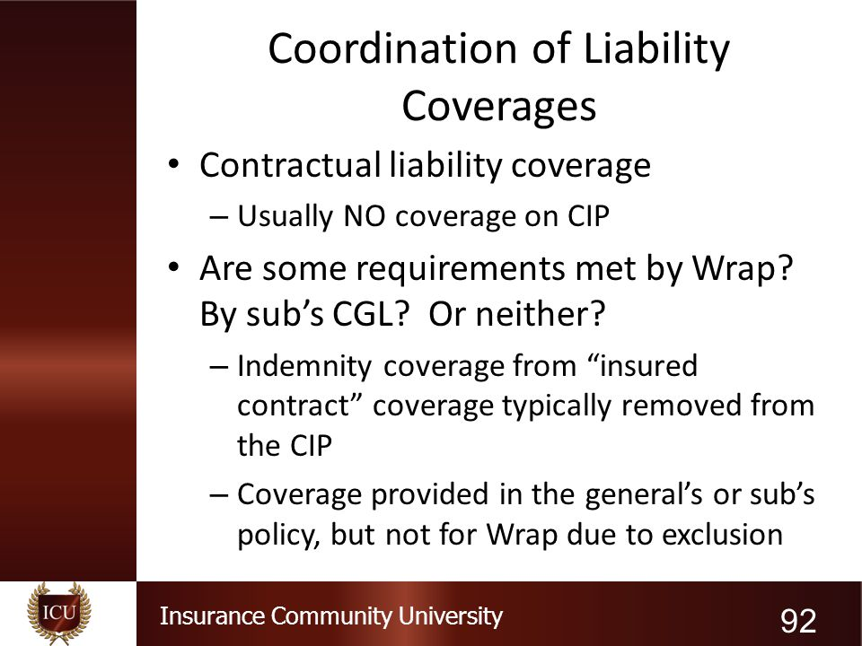 Coordination of Liability Coverages