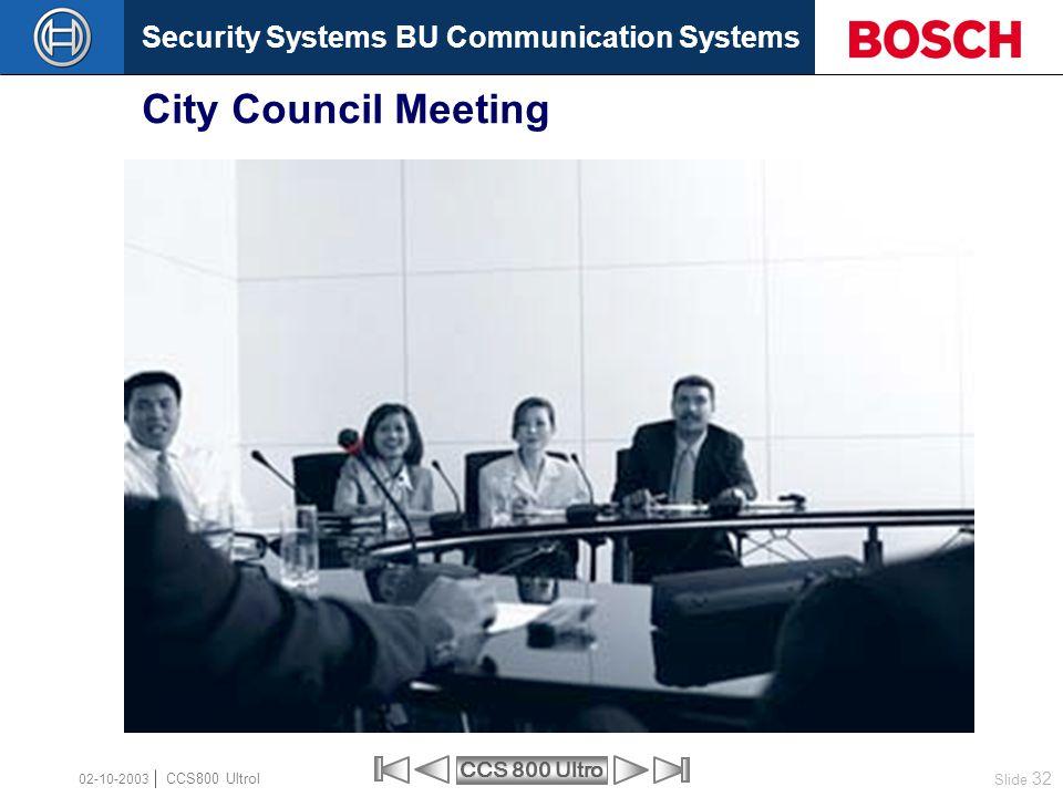 City Council Meeting 02-10-2003 CCS800 Ultrol