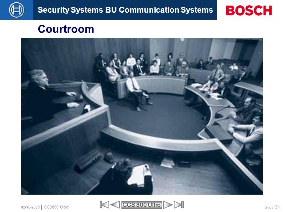 Courtroom 02-10-2003 CCS800 Ultrol