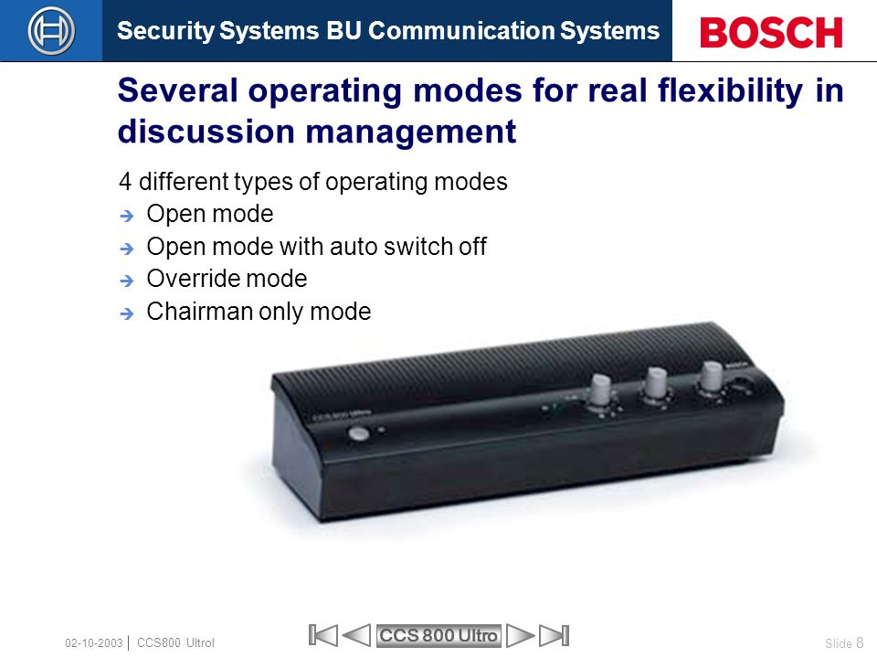 Several operating modes for real flexibility in discussion management