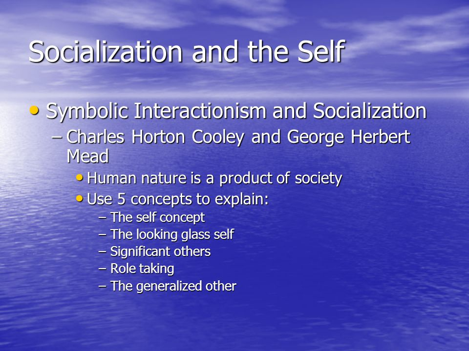 Socialization and the Self