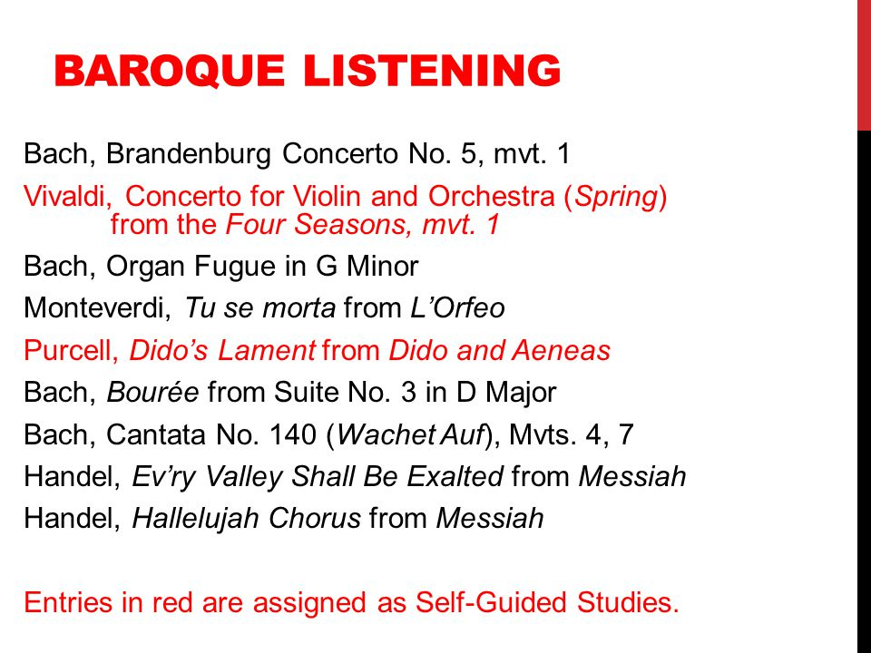 Baroque Listening