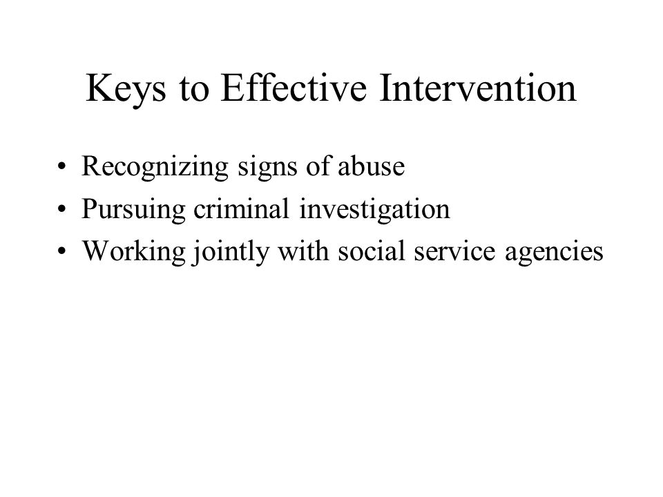Keys to Effective Intervention