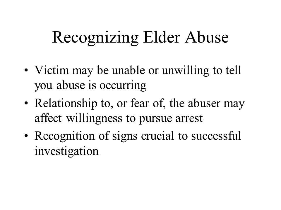 Recognizing Elder Abuse