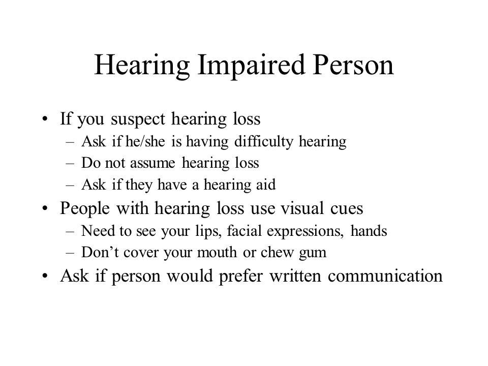 Hearing Impaired Person