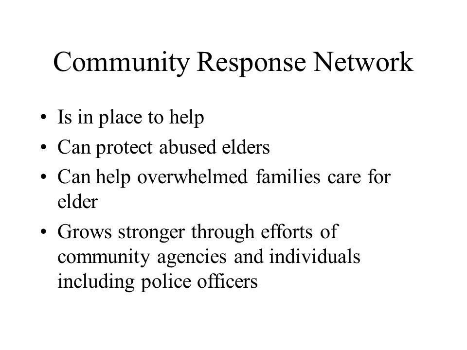 Community Response Network