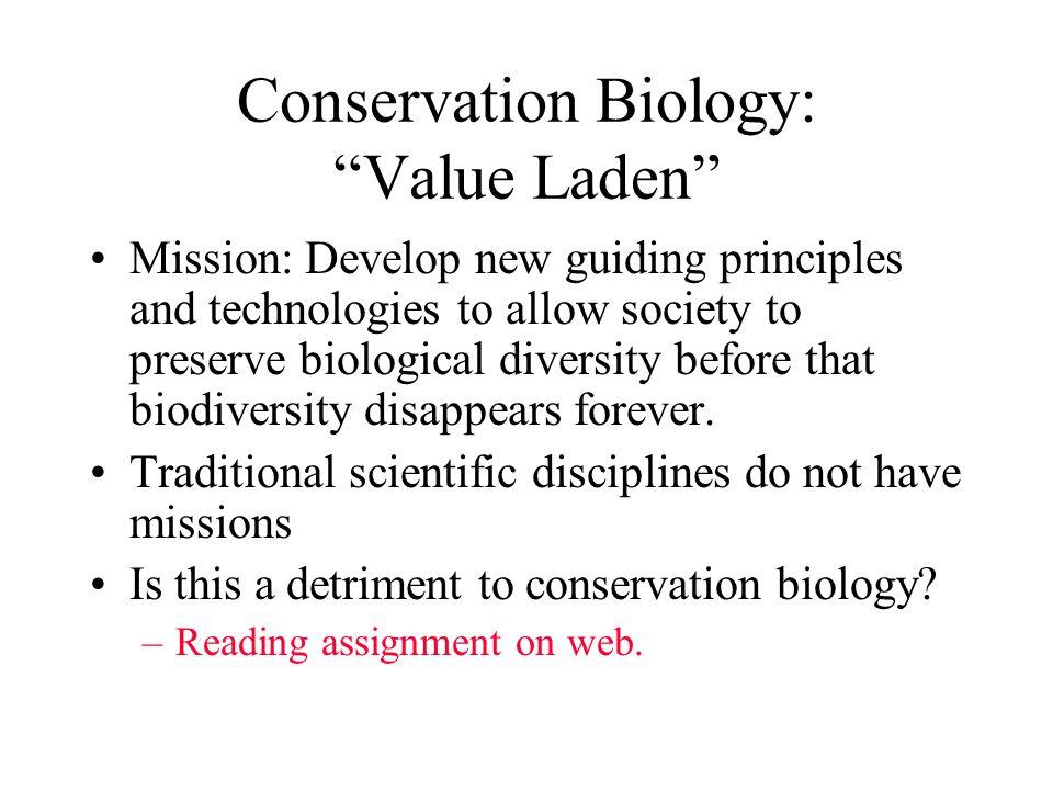 Conservation Biology: Value Laden