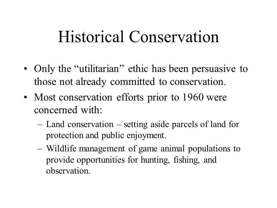 Historical Conservation