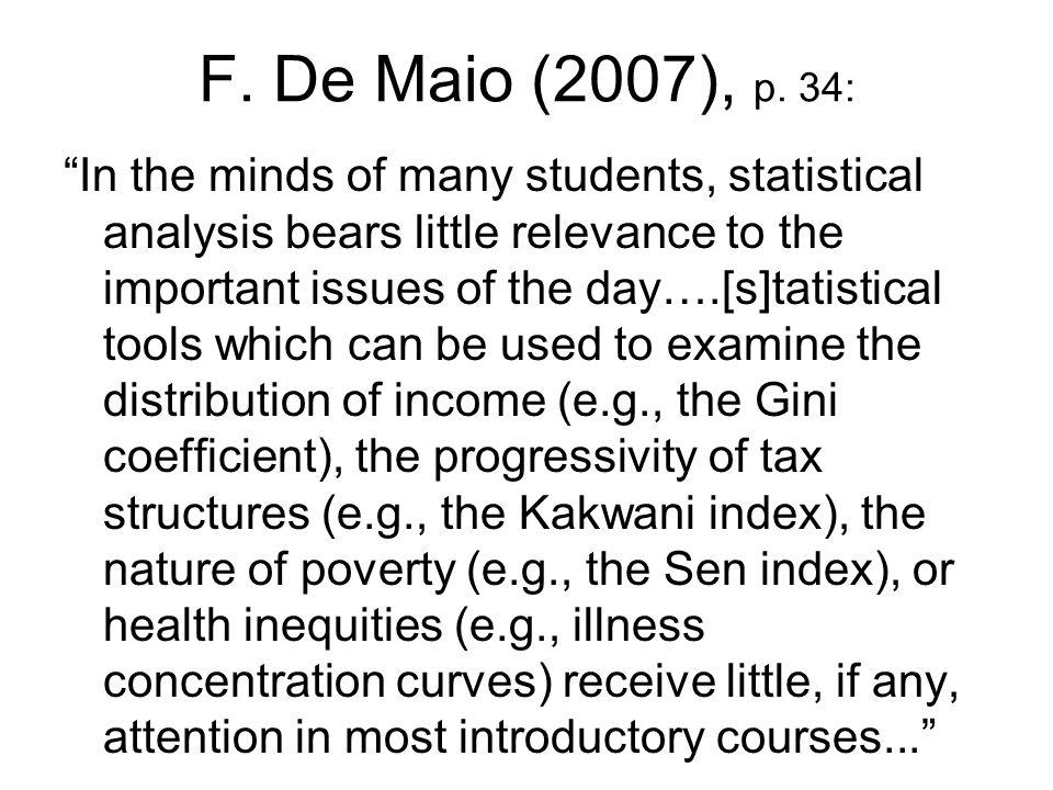F. De Maio (2007), p. 34: