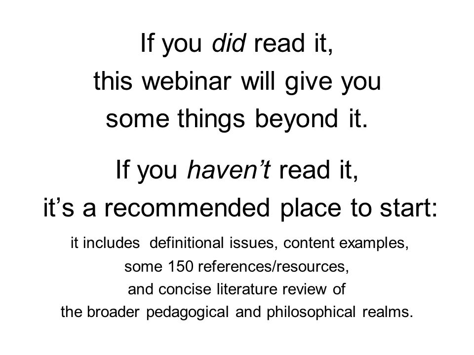 this webinar will give you some things beyond it.