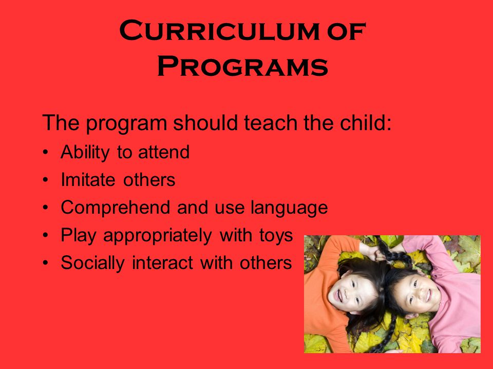 Curriculum of Programs