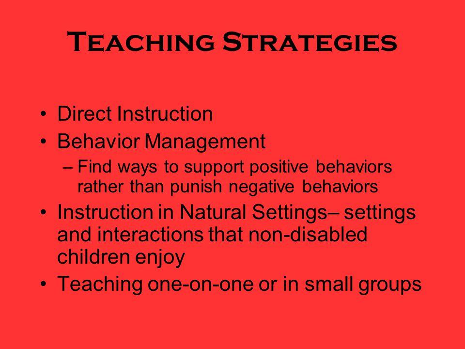 Teaching Strategies Direct Instruction Behavior Management