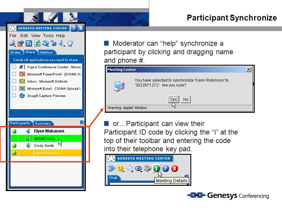 Participant Synchronize