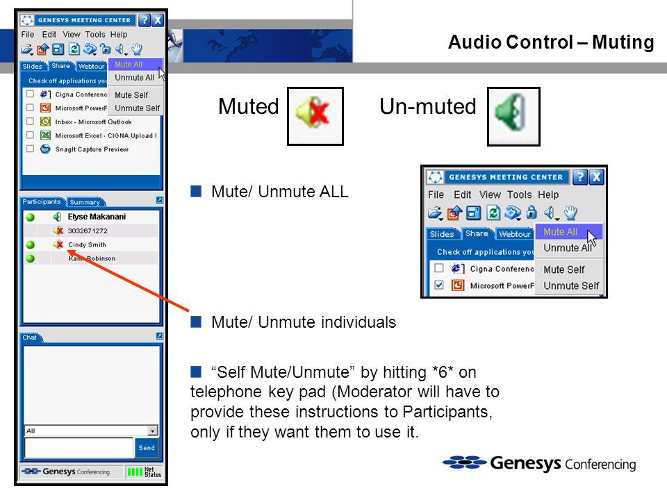 Muted Un-muted Audio Control – Muting Mute/ Unmute ALL