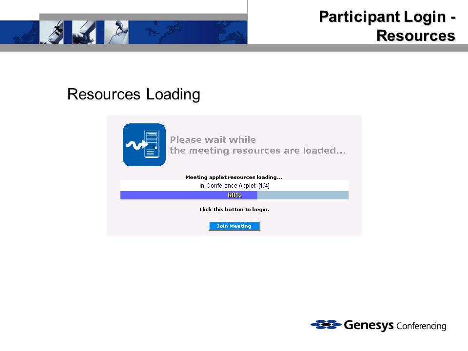 Participant Login - Resources
