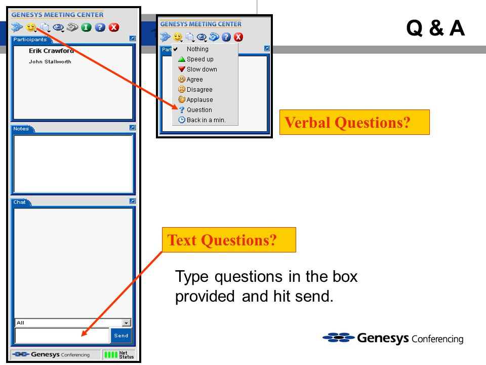 Q & A Verbal Questions Text Questions