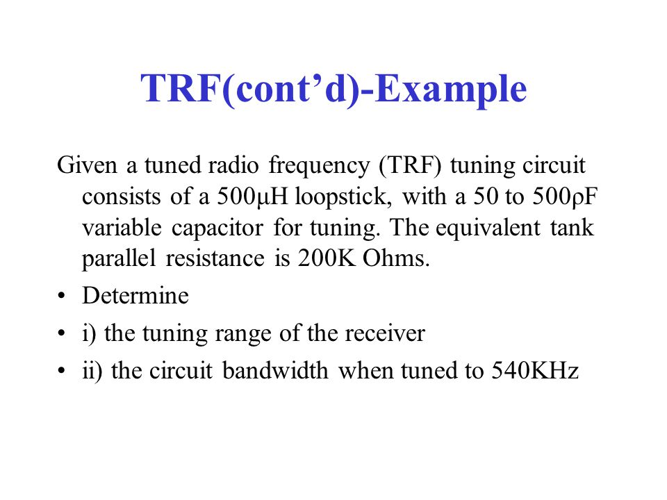 TRF(cont'd)-Example