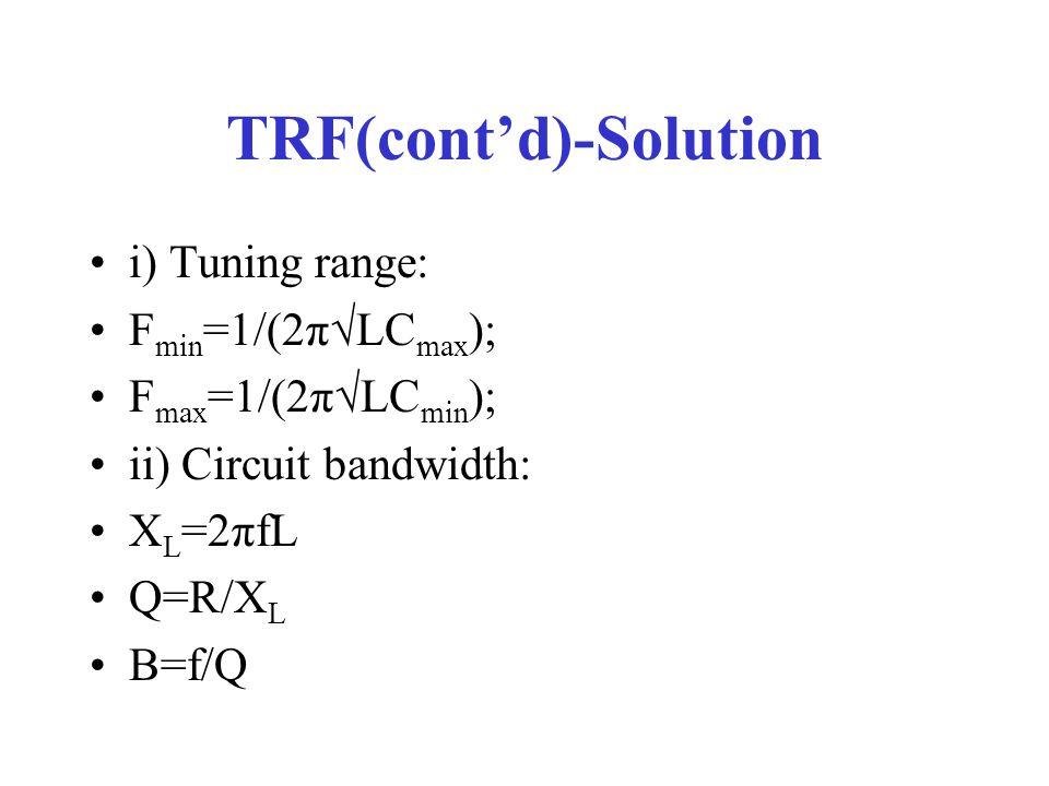 TRF(cont'd)-Solution