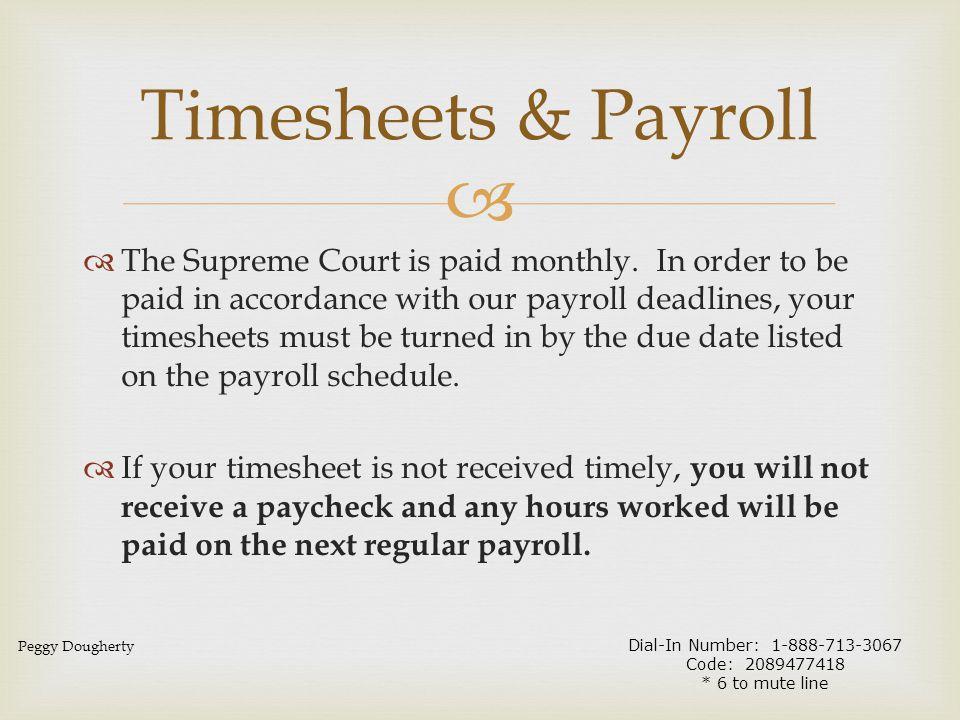 Timesheets & Payroll