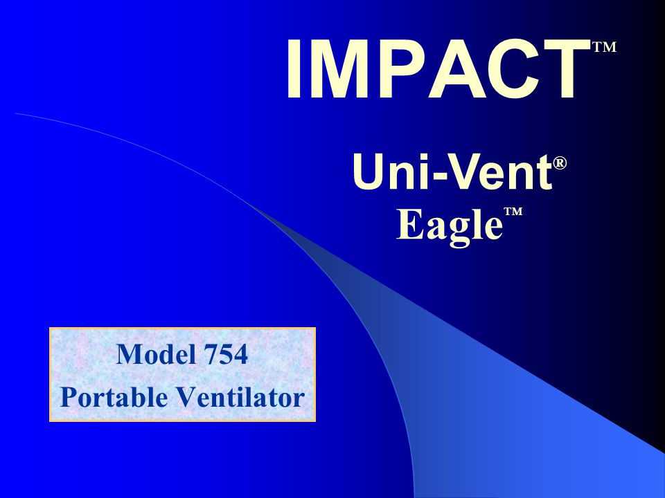 Model 754 Portable Ventilator