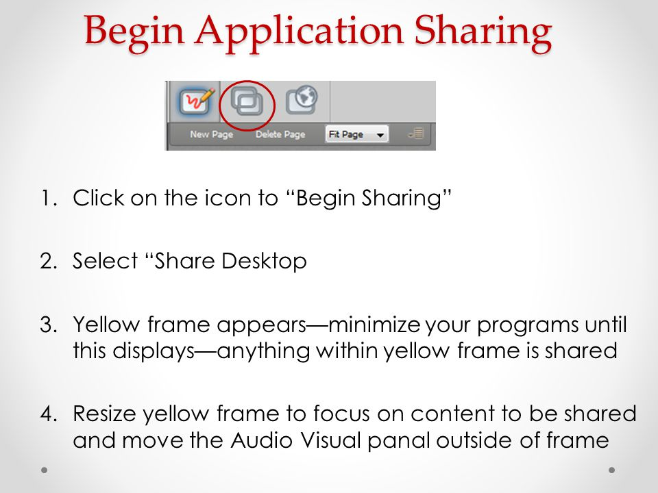 Begin Application Sharing