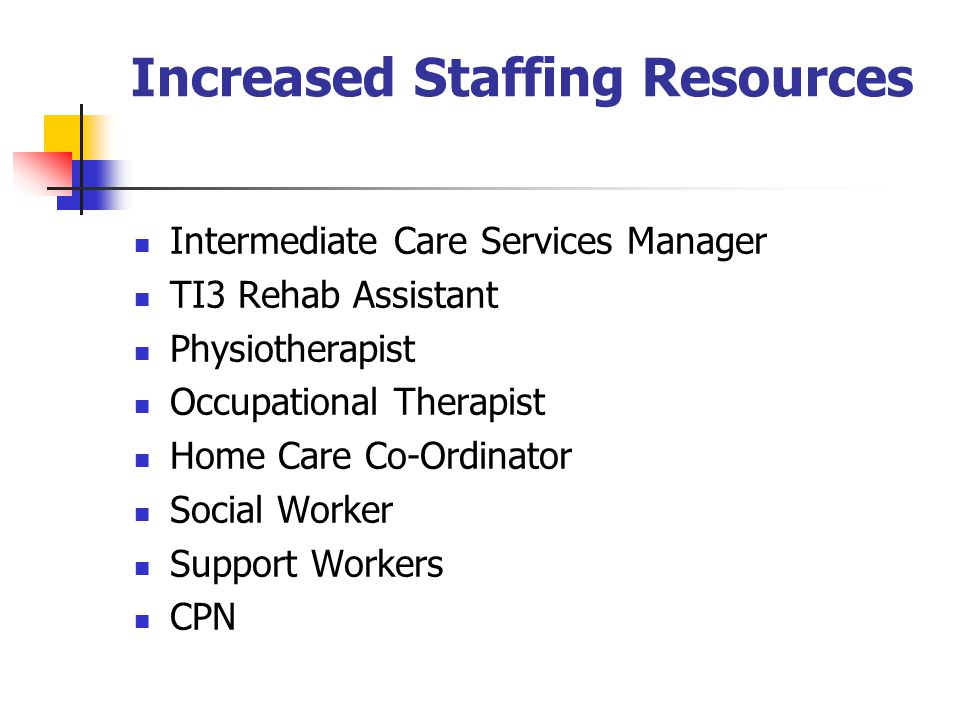Increased Staffing Resources
