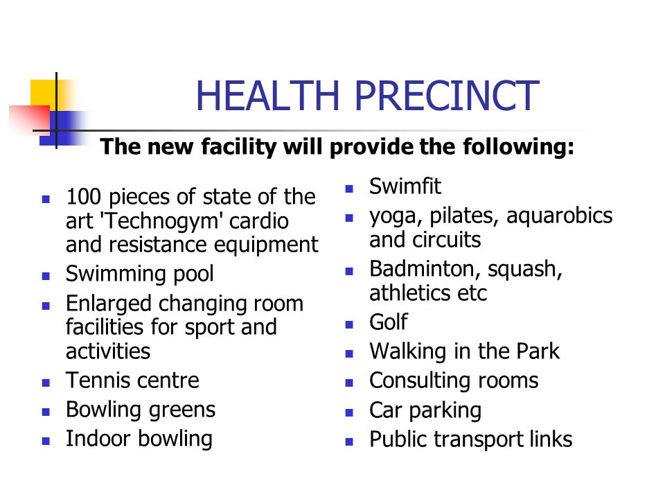 The new facility will provide the following: