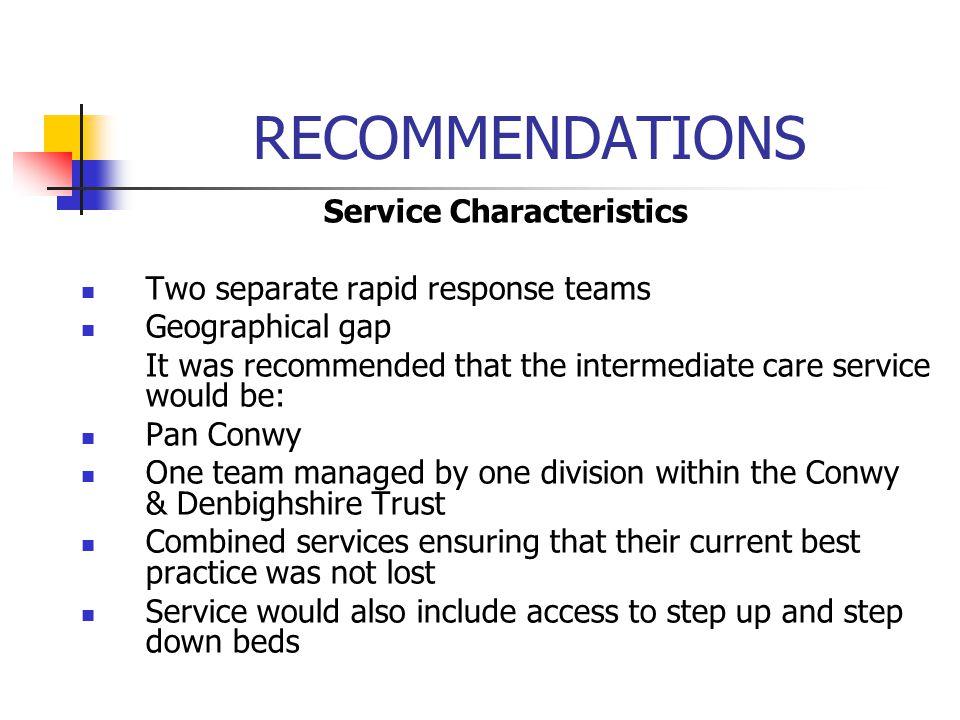 Service Characteristics