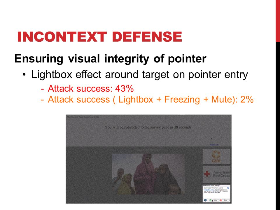 InContext Defense Ensuring visual integrity of pointer