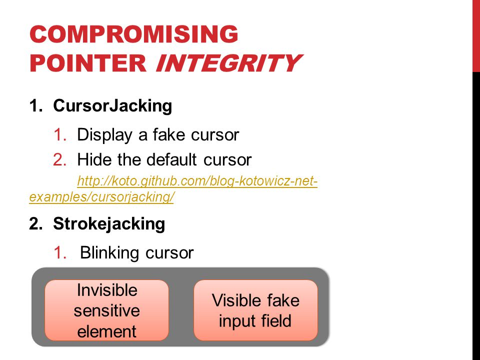 Compromising Pointer integrity
