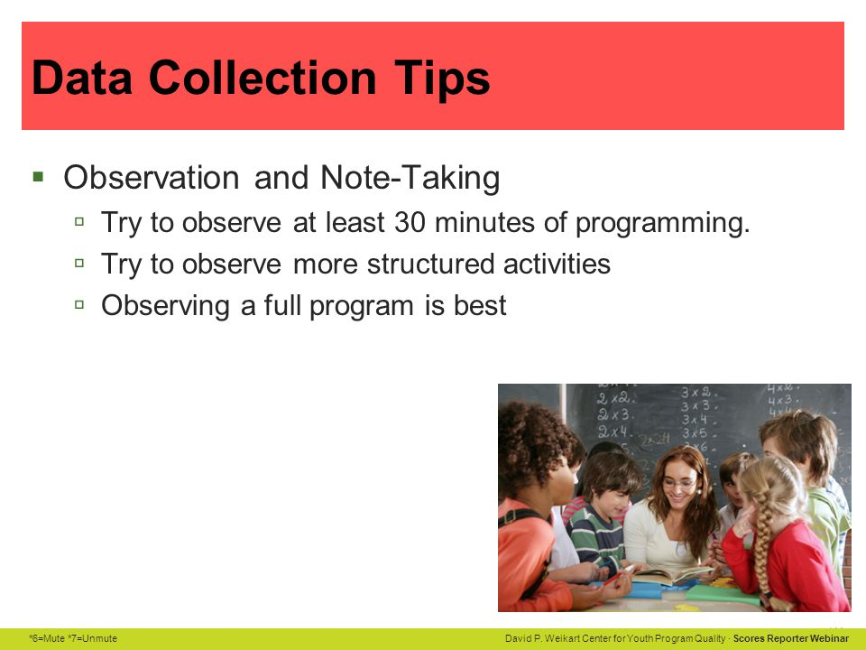 Data Collection Tips Observation and Note-Taking