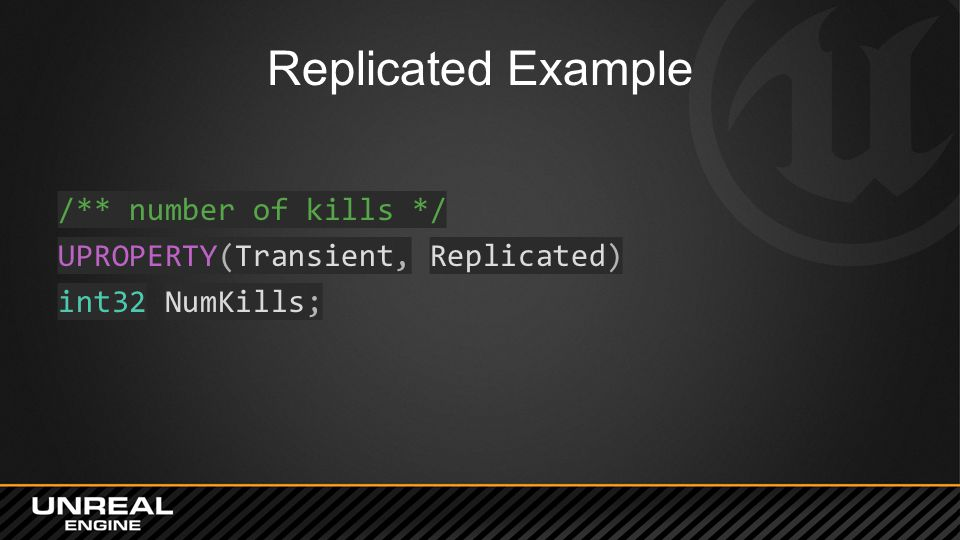 Replicated Example /** number of kills */