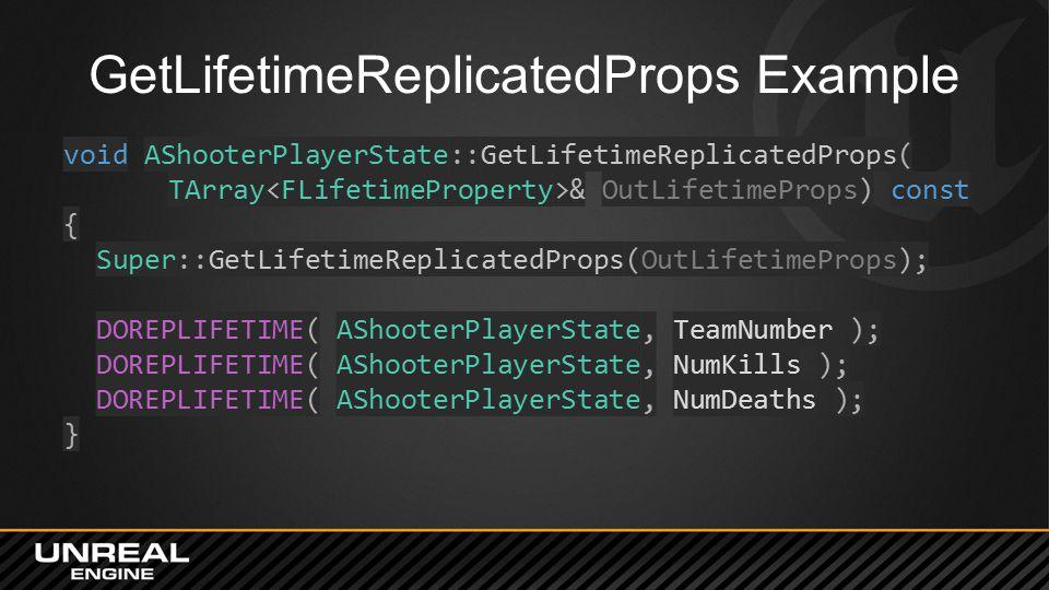 GetLifetimeReplicatedProps Example